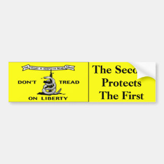 Gadsden flag 2nd Amendment Bumper Sticker