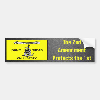 Gadsden Flag 2nd Amendment Political Bumper Sticker