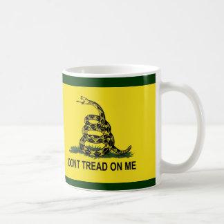 Gadsden Flag Dont Tread on Me Basic White Mug