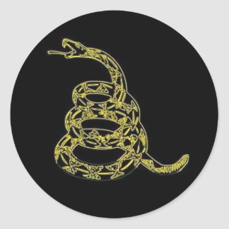 Gadsden Flag , Dont Tread On Me,  Black Sticker