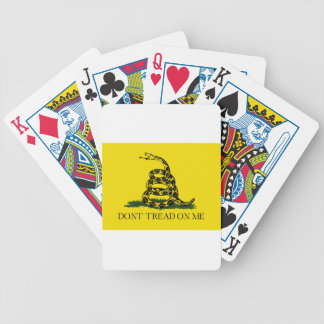 Gadsden Flag - Don't Tread On Me -  Coiled Snake Bicycle Playing Cards