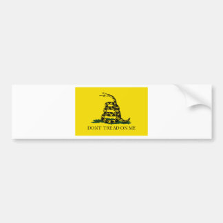 Gadsden Flag - Don't Tread On Me -  Coiled Snake Bumper Sticker