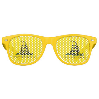 Gadsden Flag - Don't Tread On Me -  Coiled Snake Party Shades