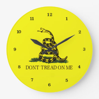 Gadsden Flag Dont Tread On Me Large Clock