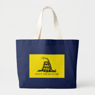 Gadsden Flag Dont Tread On Me Large Tote Bag