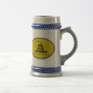 Gadsden Flag Dont Tread On Me Oval Design Beer Stein