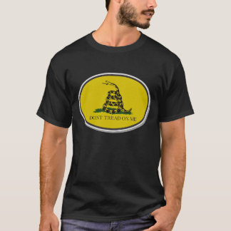 Gadsden Flag Dont Tread On Me Oval Design T-Shirt