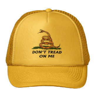 GADSDEN FLAG DON'T TREAD ON ME Tea Party Snake USA Trucker Hat