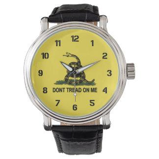 Gadsden Flag Dont Tread On Me Wristwatch