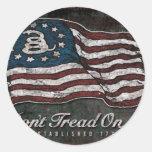 Gadsden Flag - Liberty Or Death Round Sticker