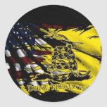 Gadsden Flag - Liberty Or Death Round Stickers