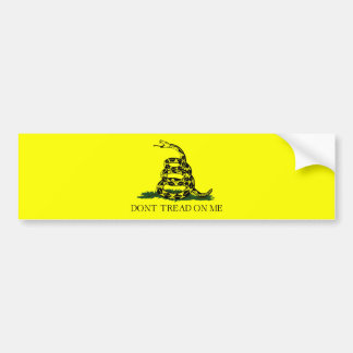 Gadsden Flag w/Transparent Background Bumper Sticker