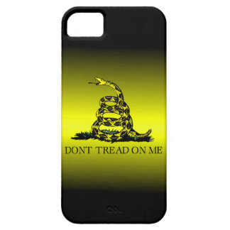 Gadsden Flag Yellow and Black Fade Case For The iPhone 5