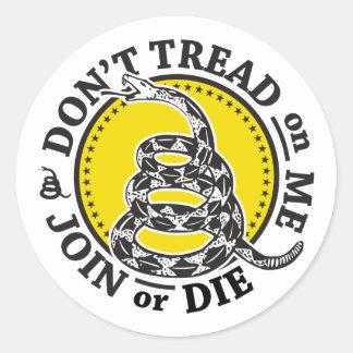 Gadsden Snake Crest Classic Round Sticker