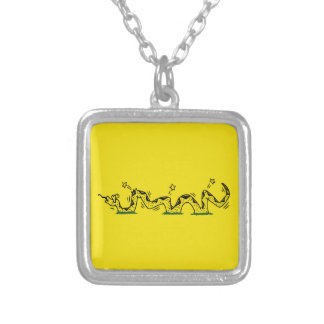 Gadsden Trodden Silver Plated Necklace