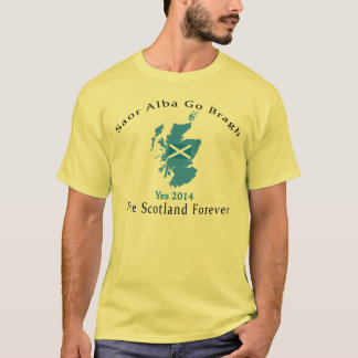 Gaelic Free Scotland Flag Map T-Shirt