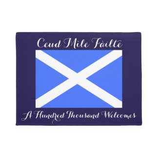 Gaelic Hundred Thousand Welcomes Scotland Flag Doormat