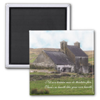 Gaelic Irish Proverb with Derelict Cottage Magnet