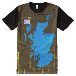 Gaelic Saor Alba Free Scotland Flag Map