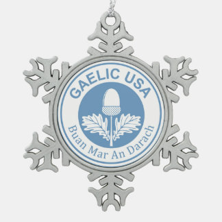 GaelicUSA Snowflake Charm Snowflake Pewter Christmas Ornament