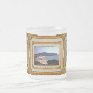 Gaeta Beach Vintage Frame Frosted Glass Mug