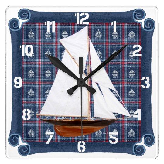 Gaff-rigged Cutter Clock