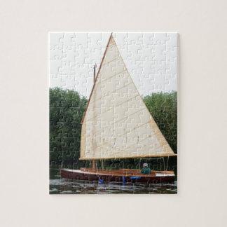 Gaff Rigged Sailing Boat Jigsaw Puzzle