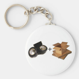Gaffa Tape and Cardboard Olympics Basic Round Button Keychain