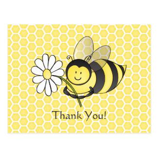 Gaffez l abeille avec la carte postale de Merci de