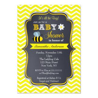 Gaffez les invitations de baby shower d'abeille