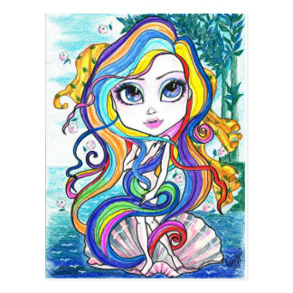 Gaga Nymph on The Half Shell Fantasy Art Postcard