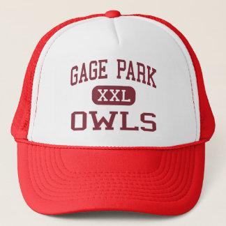 Gage Park - Owls - High School - Chicago Illinois Trucker Hat