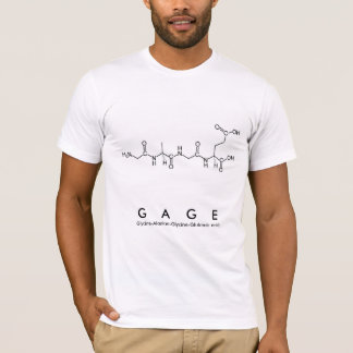 Gage peptide name shirt