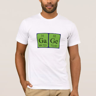 Gage periodic table name shirt