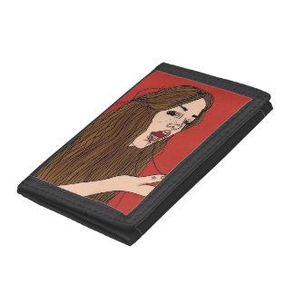 Gagging Babe Tri-fold Wallet