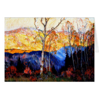 Gagnon - Golden Autumn, Laurentians Card
