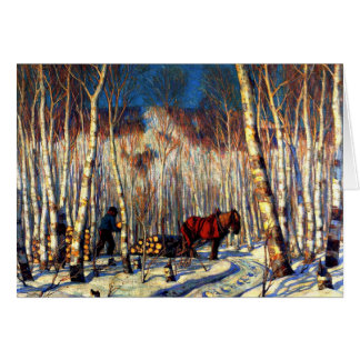 Gagnon - March in the Birch Woods Card