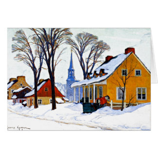 Gagnon - Winter Morning, Baie-Saint Paul Card