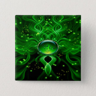 Gaia's Life Stream 2 Inch Square Button