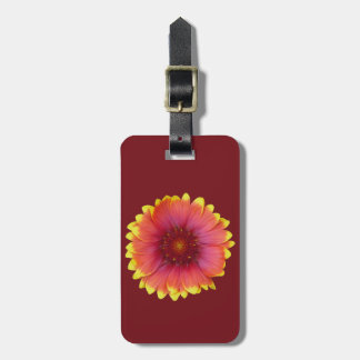 Gaillardia 1 luggage tag