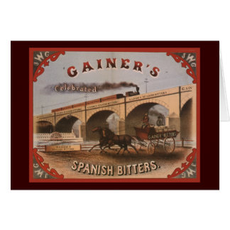 Gainer s Spanish Bitters Greeting Cards