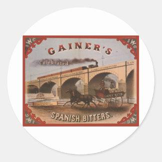 Gainer s Spanish Bitters Round Sticker