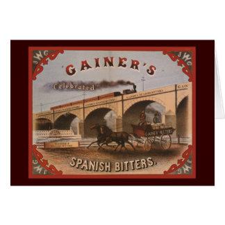 Gainer's Spanish Bitters Greeting Card