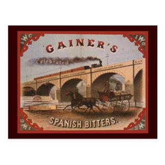 Gainer's Spanish Bitters Postcard