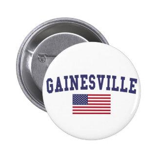 Gainesville GA US Flag 2 Inch Round Button