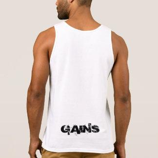 """GAINS"" custom muscle shirt"