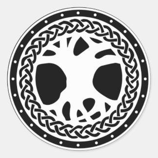 Gaiscioch White Emblem Classic Round Sticker