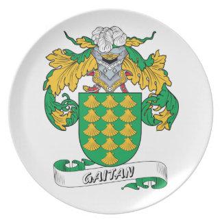 Gaitan Family Crest Plate