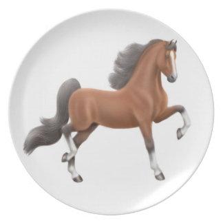 Gaited Bay Walking Horse Plate