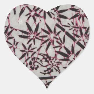 Gajah Oling Batik Jajang Style Heart Sticker